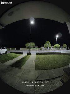 Door Camera at Night